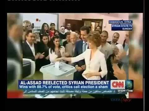 Syria: President al-Assad re-elected for third term