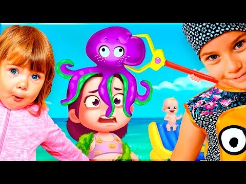 ОПАСНЫЙ ПЛЯЖ Летние каникулы Веселый мультик игра для детей Детский развлекательный