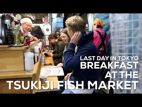 LAST DAY IN TOKYO: BREAKFAST AT TSUKIJI FISH MARKET - Bas Hollander - Vlog 100
