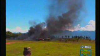 Choque de Dos Helicopteros en Chaparral Tolima