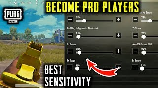 BEST SENSITIVITY TO BECOME PRO IN PUBG MOBILE | RECOIL CONTROL