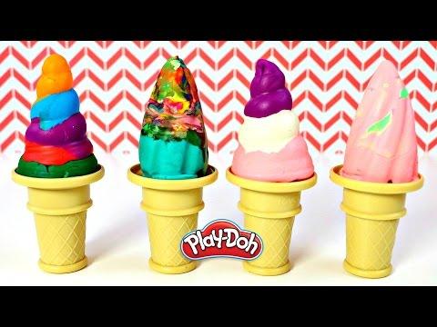 Paletas de Plastilina Play Doh | Rainbow Play Doh Popsicles