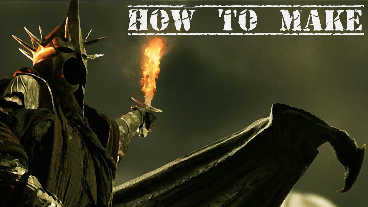 & How to make: Witch Kingu0027s helmet (From Lord of the Rings) - YouTube