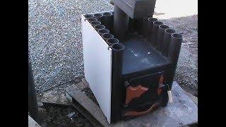 Испытание печки углем и проверка системы дожига.