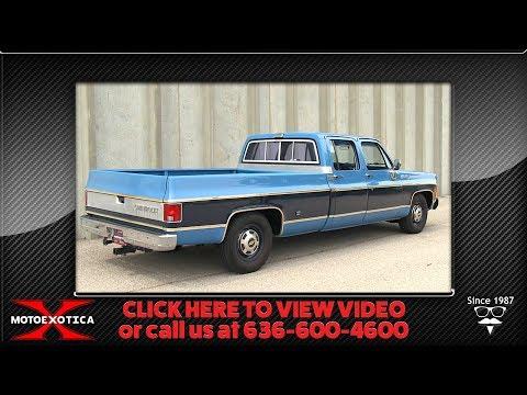 1977 Chevrolet C20 Silverado ¾-Ton Crew Cab Fleetside Pickup Truck    For Sale