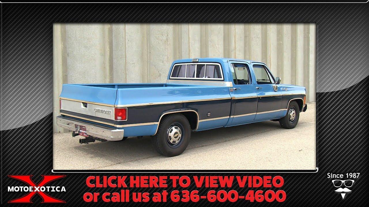 1977 Chevrolet C20 Silverado Ton Crew Cab Fleetside Pickup Truck Sold Youtube