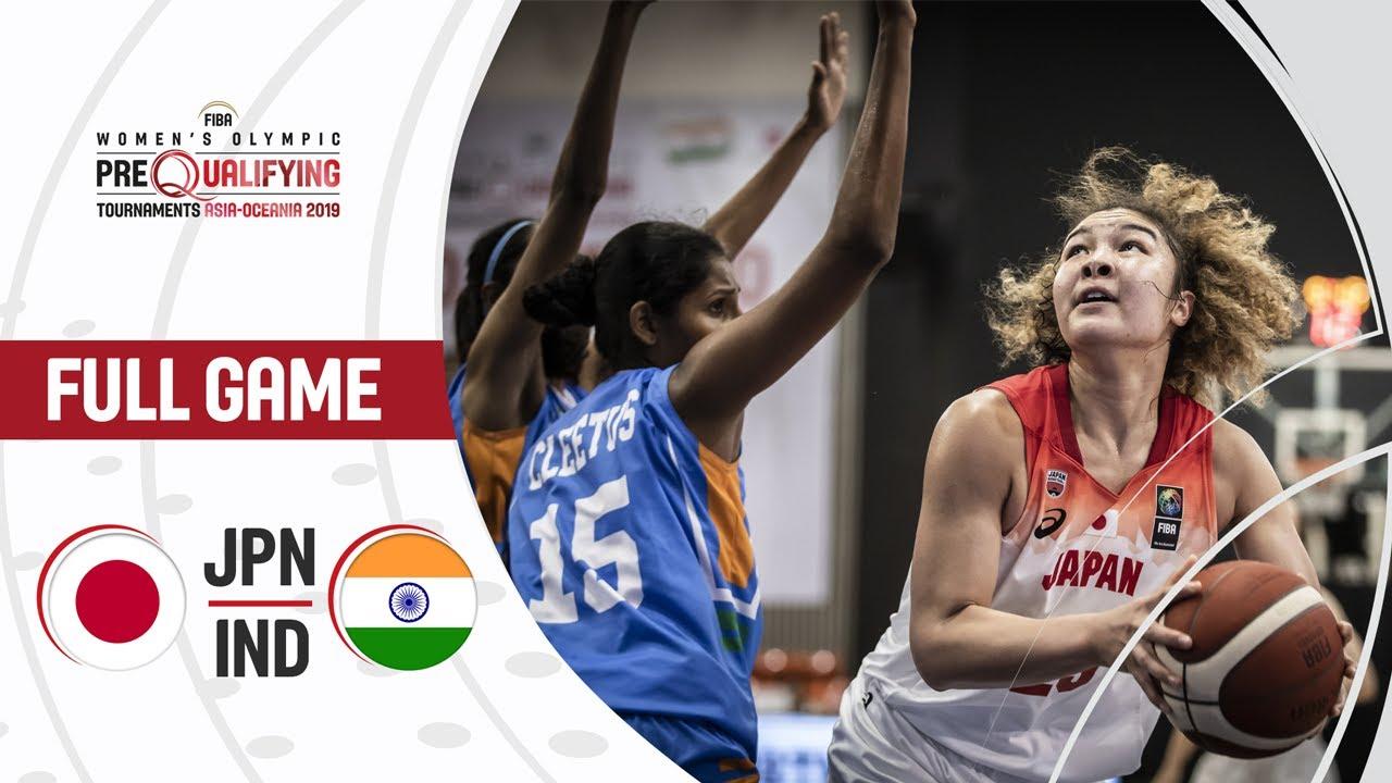 Japan v India - Full Game - FIBA Women's Olympic Pre