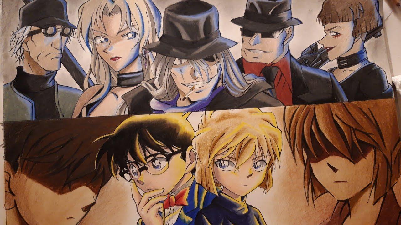 Drawing Detective Conan Conan Haibara Vs Black Organisation Detective Conan Detective Conan Wallpapers Conan