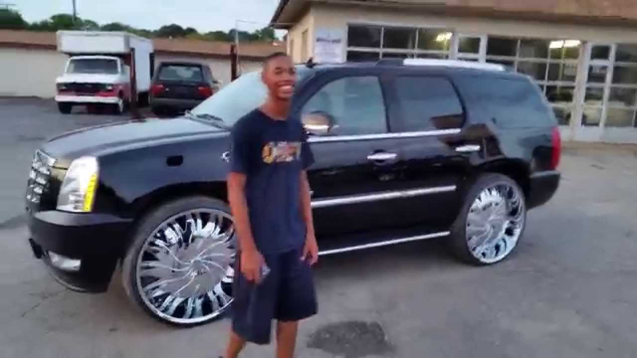 Cut And Welded 2014 Escalade For 30 Quot Rims Johns Youtube