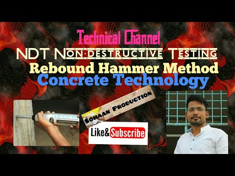 NDT (Non-destructive Testing) of Concrete  by #Rebound Hamme