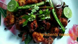 Simple and tasty Chicken Fry recipe.