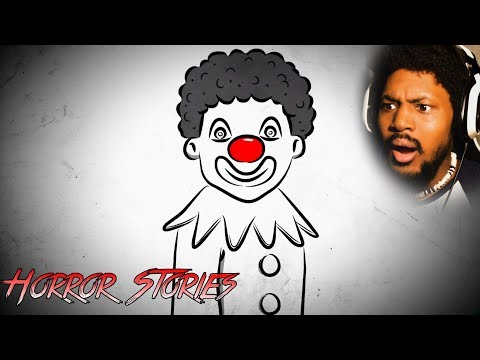 IF YOU DON'T LIKE CLOWNS.. DON'T WATCH   Reacting To Scary Horror Stories (SSS)