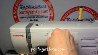 видео швейная машина джаноме