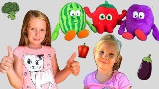 ZDRAVOLJUPCI. Kupujemo hranu u bojama naših Zdravoljubaca. Zelenu, ljubičastu, crvenu