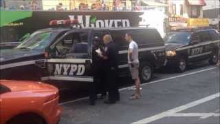 Rare NYPD Traffic Unit  Puts A Boot On World Famous Mercedez Benz Car Made Out Of Gummy Bears