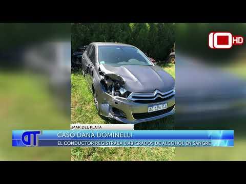 Caso Dana Dominelli: el conductor registraba 0.49 grados de alcohol en sangre