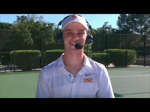 2019 Pac-12 Tennis Championships: USC's Jake Sands glad to be playing in front of friends, family...
