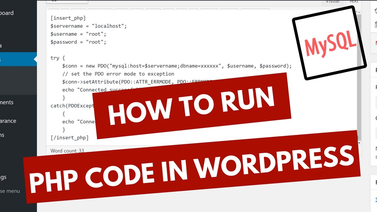 How to Run PHP Code in WordPress with MySQLi and PDO 2016