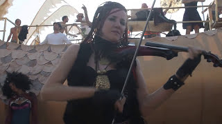 Random Rab feat. HÄANA violinist at Burning Man 2013