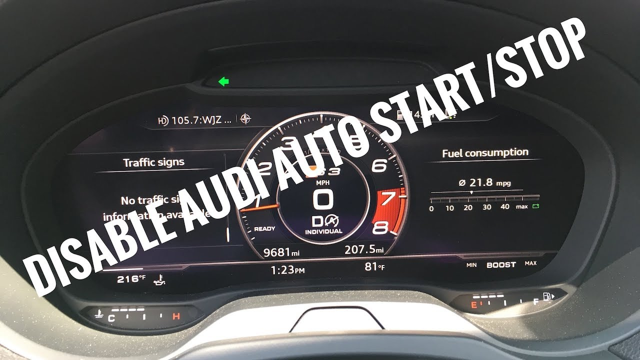 Live - How To Disable Audi Auto Start  Stop A3 S3 Rs3