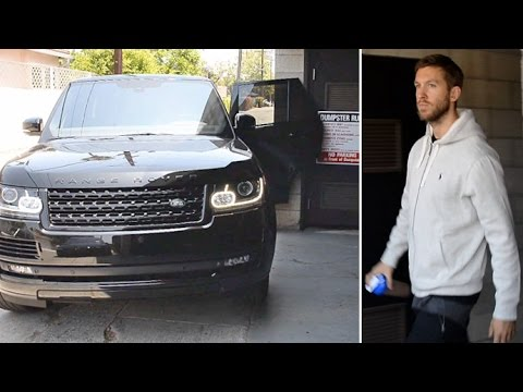 MAJOR DRIVING FAIL! Watch Calvin Harris Crash His Range Rover At The Gym