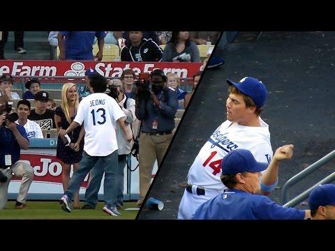 Comedians Ken Jeong & Kike Hernandez at Dodgers