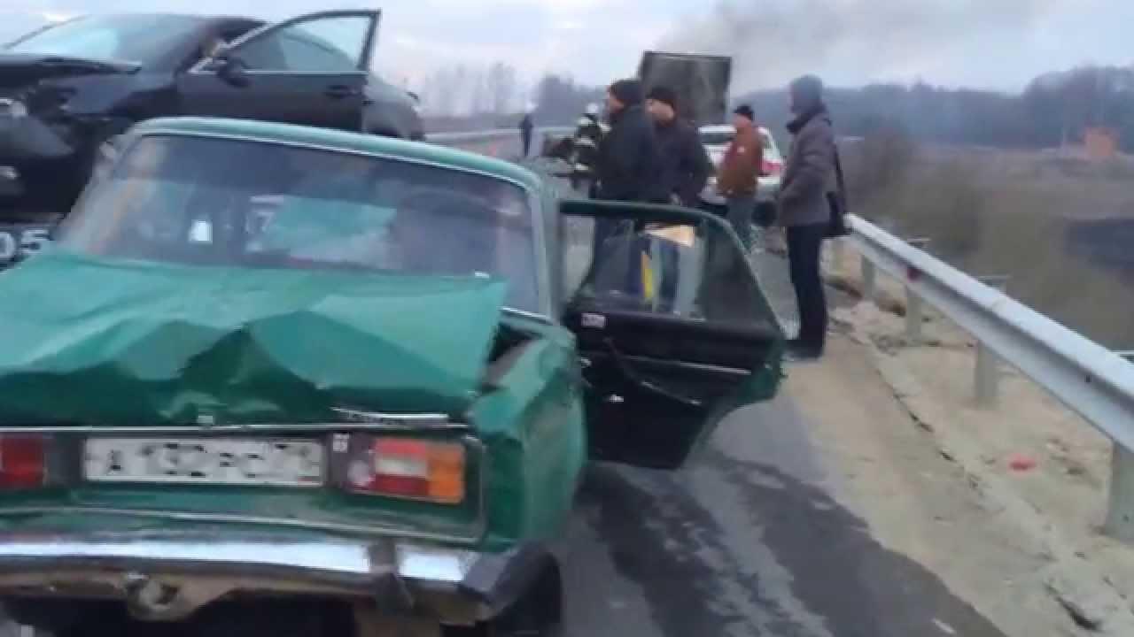 авария skoda на тульской трассе 2014