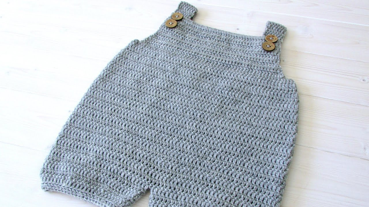 How To Crochet Baby Childrens Simple Dungarees The Robin