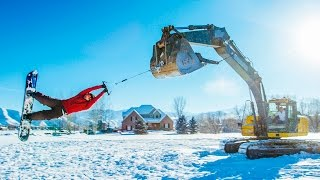 Repeat youtube video Track Hoe Snowboarding! In 4K!
