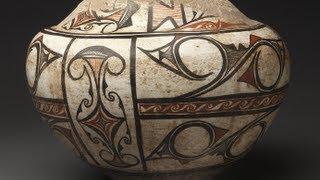 Large Zuni Storage Jar with Extreme Ethnographic Wear (Circa 1880)