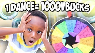 Mystery WHEEL Fortnite DANCE Challenge