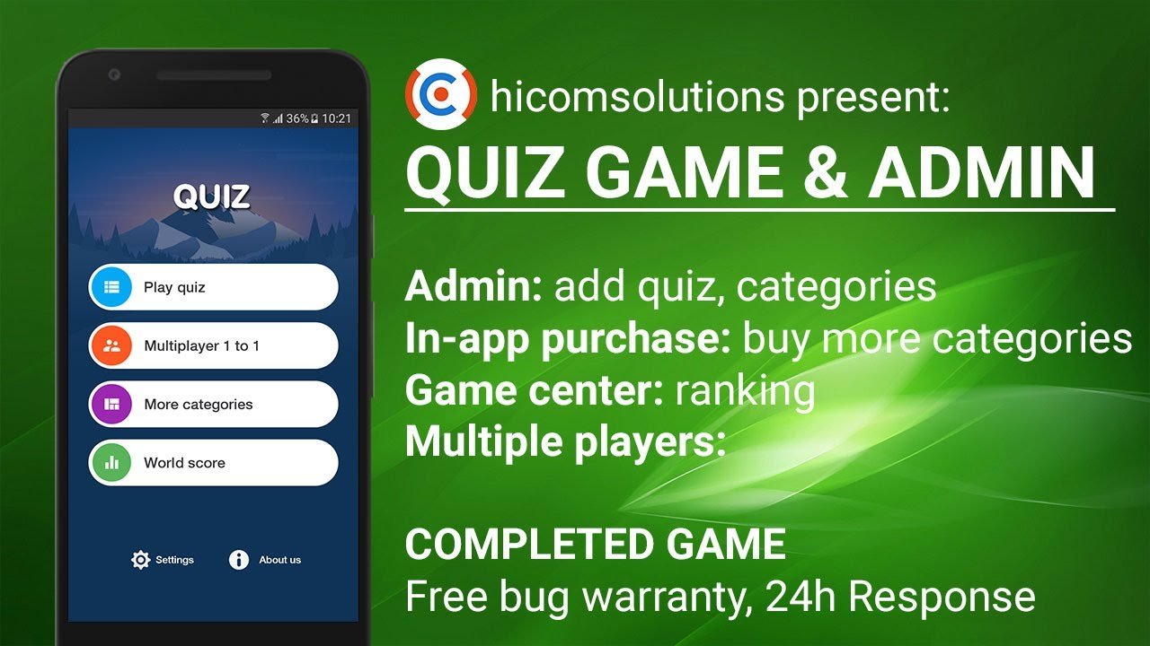 Quiz Game Template, Game Source Code - The Best Hicomsolutions