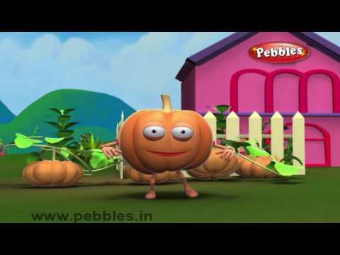 Pumpkin Rhyme | Nursery Rhymes With Lyrics For Kids | Vegetable Rhymes | Rhymes 3D Animation