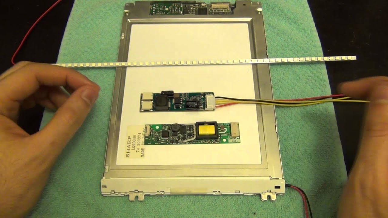 small resolution of tsp 78 lcd screen backlight ccfl to led replacement