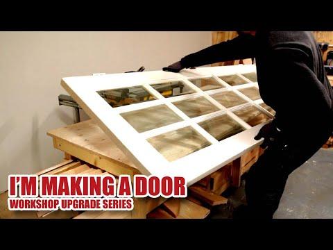 Making A MDF Door And Door Frame (from A Reclaimed Door) - Workshop Upgrade Part 7