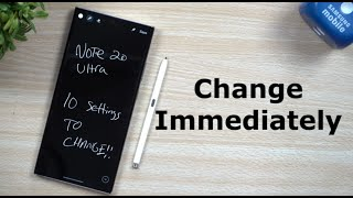 10 Galaxy Note 20/Note 20 Ultra SETTINGS To Change NOW!