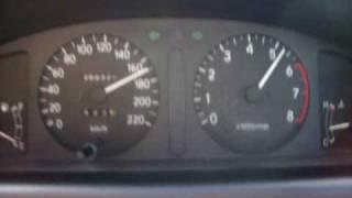 AE110 5A-FE MT Top speed test