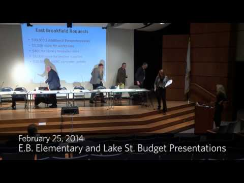 E. Brookfield Elementary, Lake Street, and Wire Village School Budget Presentations