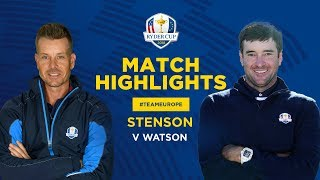 Stenson vs Watson | Ryder Cup Sunday Singles Highlights