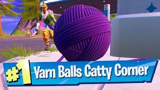 Find balls of yarn at Catty Corner Location - Fortnite Battle Royale