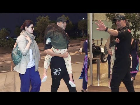 Akshay Kumar With Wife Twinkle Khanna & Daughter Nitara leave for London to celebrate His Birthday Mp3
