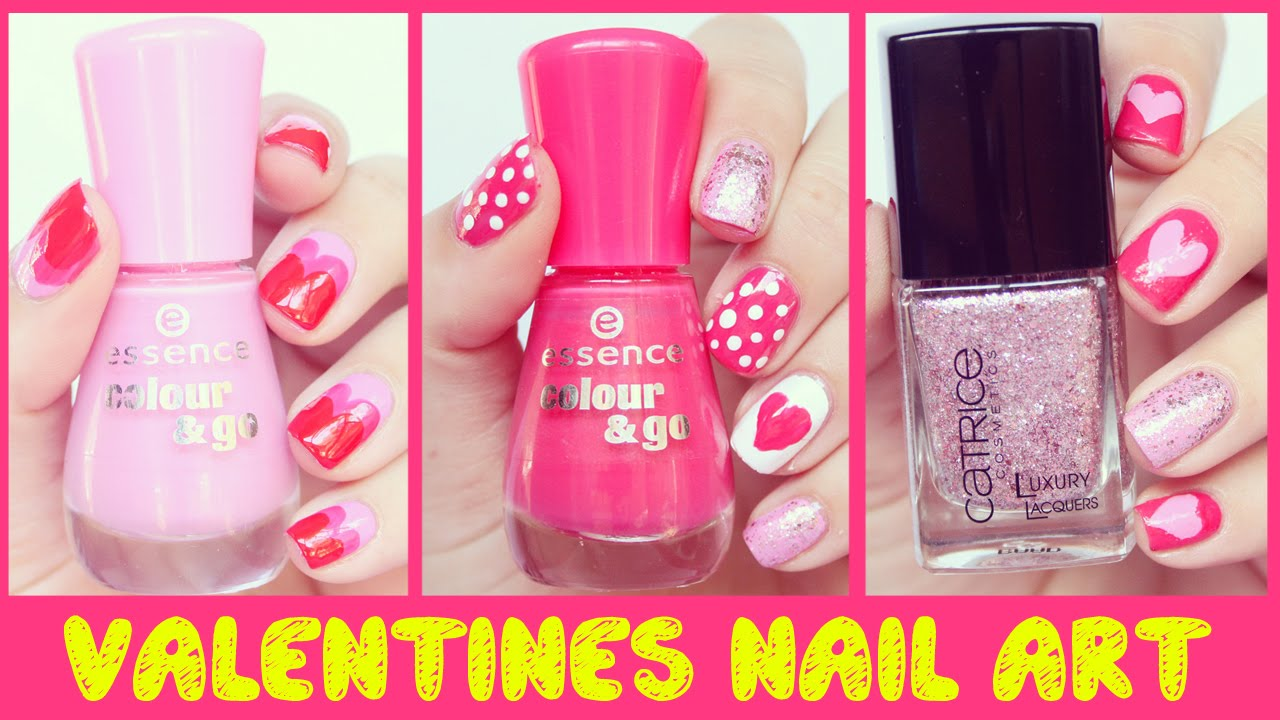 Nail Art for Beginners #2 - Valentines Day - No Tool Nail Art ...