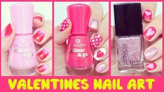 Nail Art for Beginners #2 - Valentines Day - No Tool Nail Art | Hayls World