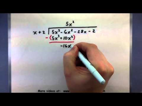 Pre-Calculus - How to divide polynomials using long division