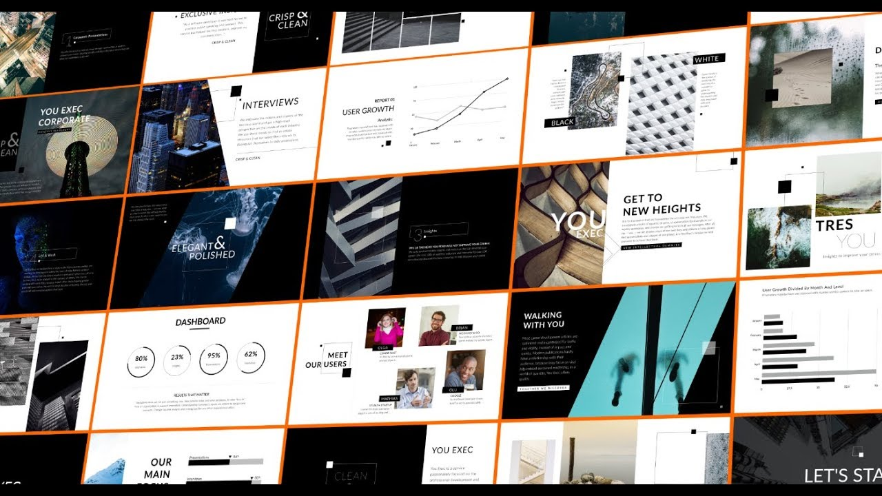corporate powerpoint and keynote presentation with uber like design