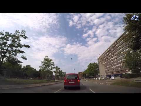Denmark. Driving from Copenhagen City Center to 2900 Hellerup (EXTENDED VERSION) HD