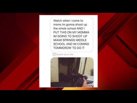 Multiple social media posts threaten shooting at Miami Springs Middle School