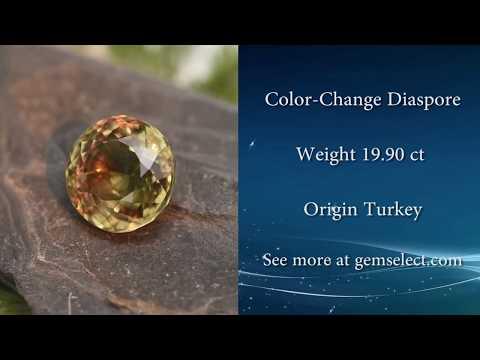 HUGE 20ct Color Change Diaspore: GemSelect Video Review
