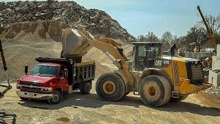 Single Axle Chevy Dump Truck Hauls Gravel (HD)