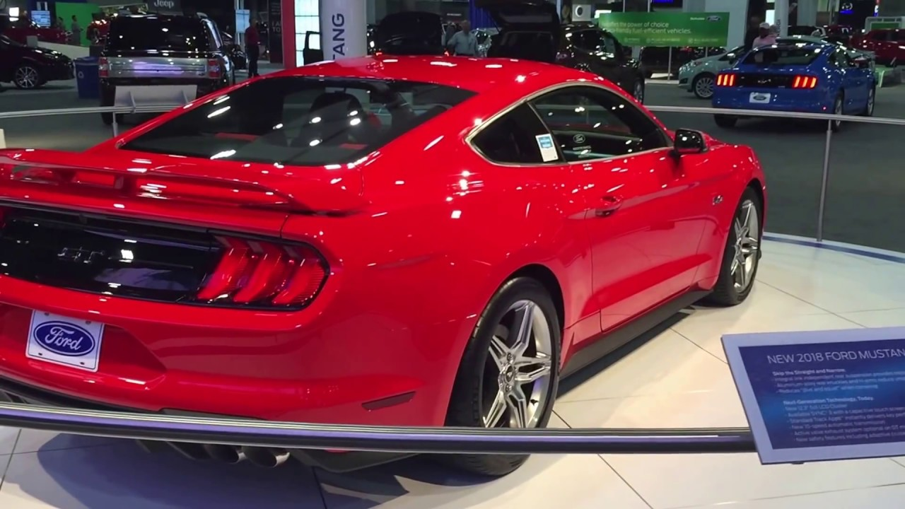 Ford Race Red >> 2018 Mustang GT Performance Pack - Atlanta International Auto Show 2017 - YouTube
